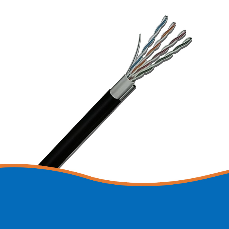 Self-supporting super five network cables