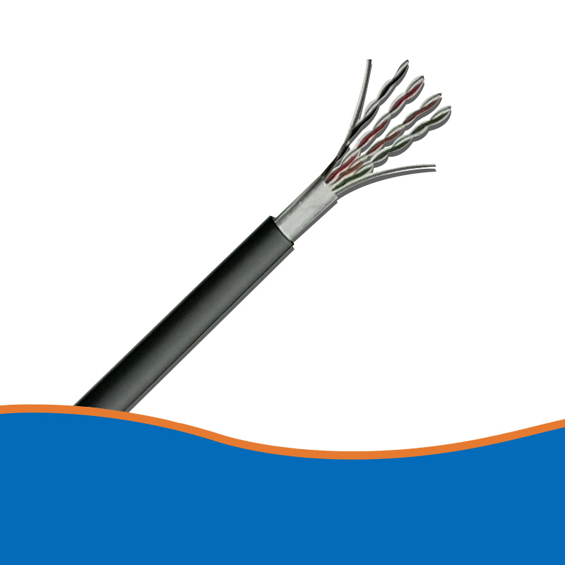 Single shielded super five network cable